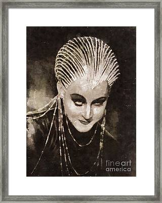 Brigitte Helm In Metropolis By Mary Bassett Framed Print by Mary Bassett