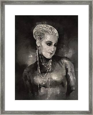 Brigitte Helm In Metropolis Framed Print by Mary Bassett