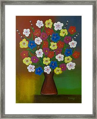 Brilliant Bouquet Framed Print by Teresa Wing