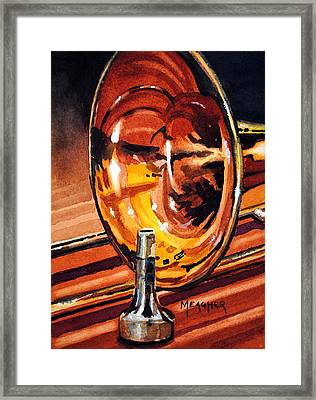 Brilliant Brass Framed Print