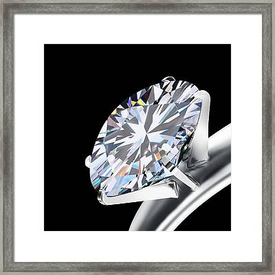 Brilliant Cut Diamond Framed Print by Setsiri Silapasuwanchai