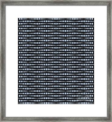 Brilliant Diamond Pattern Framed Print