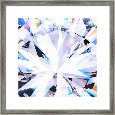 Brilliant Diamond  Framed Print by Setsiri Silapasuwanchai