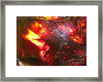 Brilliant Flame Contemporary Design Framed Print by Rebecca Lemke