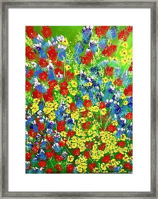 Brilliant Florals Framed Print