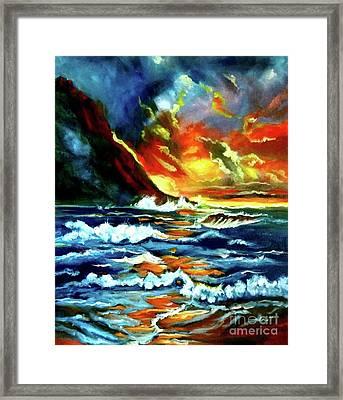 Brilliant Hawaiian Sunset Framed Print