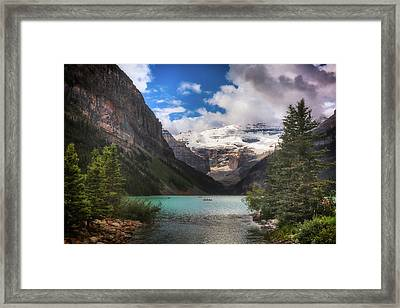 Brilliant Lake Louise Framed Print by Monte Arnold