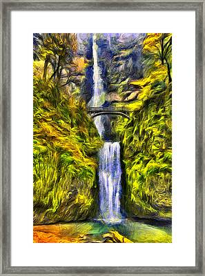 Brilliant Multnomah  Framed Print by Mark Kiver