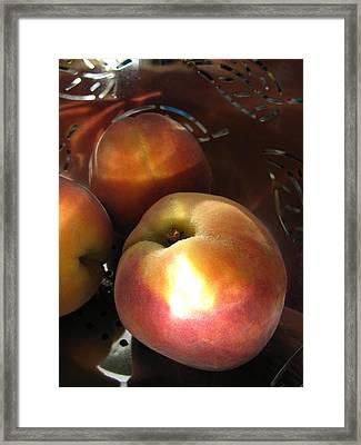 Brilliant Peach Framed Print by Lindie Racz