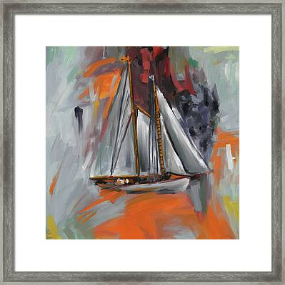 Brilliant Schooner 289 4 Framed Print