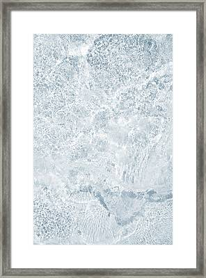 Framed Print featuring the photograph Brilliant Shine. Series Ethereal Blue by Jenny Rainbow