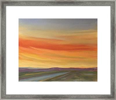 Brilliant Sunrise Framed Print