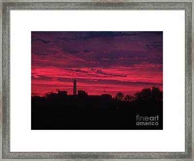 Brilliant Sunset 2 Framed Print by Rod Ismay
