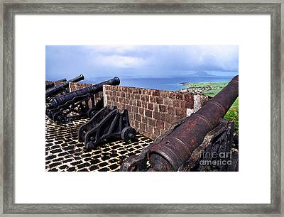 Brimstone Hill Fortress Canons Framed Print by Thomas R Fletcher