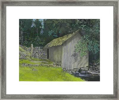 Brinegar Cabin Springhouse Framed Print