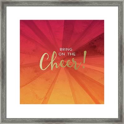 Bring On The Cheer -art By Linda Woods Framed Print