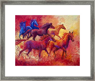 Bring The Mares Home Framed Print