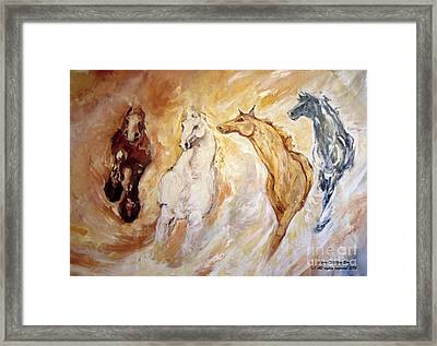 Bringers Of The Dawn Section Of Mural Framed Print
