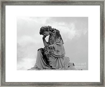 Bringing Flowers Framed Print