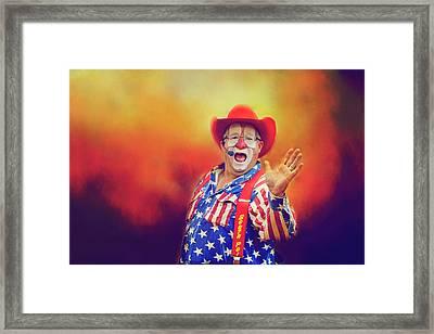 Bringing Fun To The Rodeo Greek Ellick Jr.  Framed Print