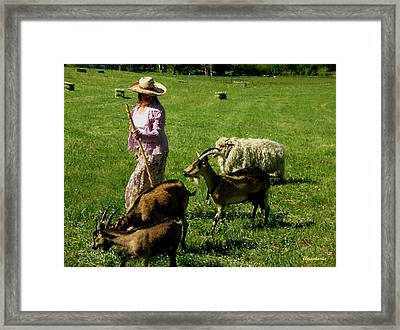 Framed Print featuring the painting Bringing Home The Flock by Anastasia Savage Ealy
