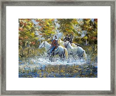 Bringing Home The Mare Framed Print by Anderson R Moore