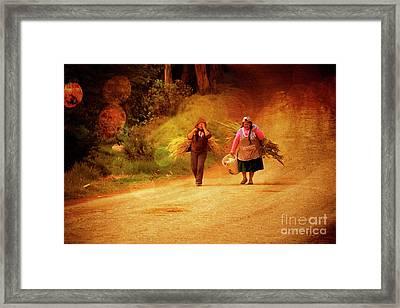 Bringing In The Sheaves II Framed Print by Al Bourassa