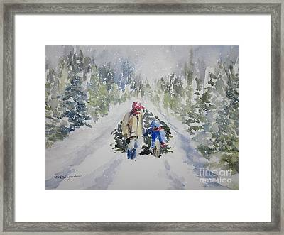 Bringing In The Tree 2011 Framed Print