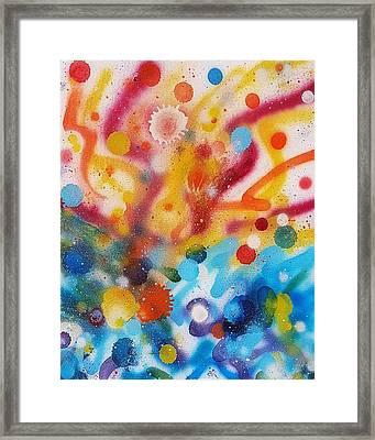 Bringing Life Spray Painting  Framed Print