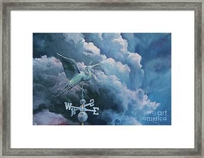 Bringing The Storm Framed Print