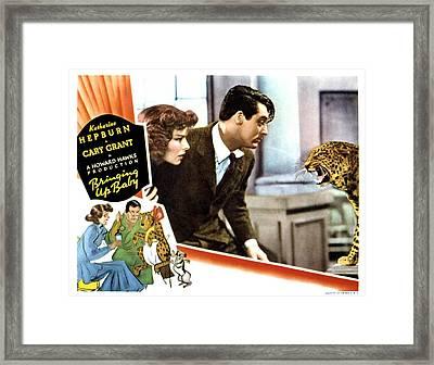 Bringing Up Baby, Katharine Hepburn Framed Print by Everett