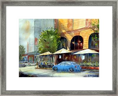 Brisbane Cafe Framed Print