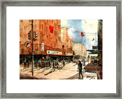 Brisbane City Early Morning Framed Print by Sof Georgiou