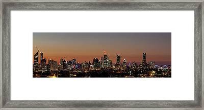 Brisbane City Skyline Framed Print by Az Jackson