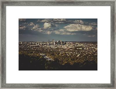 Brisbane Cityscape From Mount Cootha #3 Framed Print by Stanislav Kaplunov