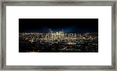 Brisbane Cityscape From Mount Cootha #7 Framed Print by Stanislav Kaplunov