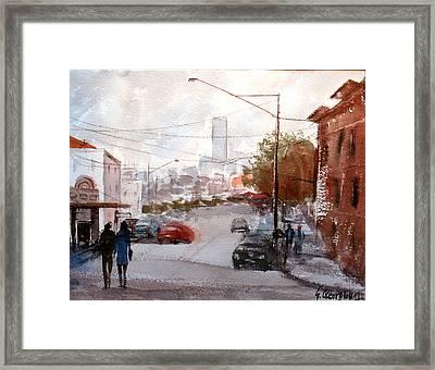 Brisbane Paddington Street Scene Framed Print