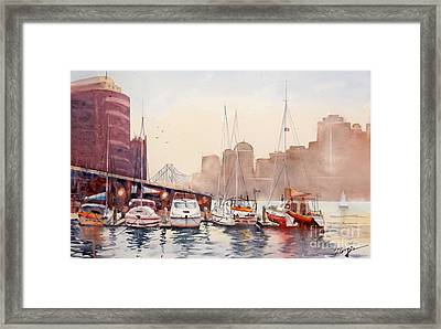 Brisbane River From Gardens Point Framed Print by Sof Georgiou