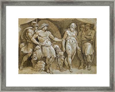 Briseis Leaving Achillesu0027 Tent Framed Print  sc 1 st  Fine Art America & Briseis Framed Art Prints | Fine Art America