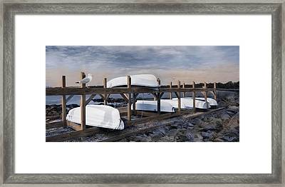 Bristol Boat Ramp Framed Print by Robin-Lee Vieira