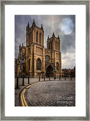 Bristol Cathedral Framed Print by Adrian Evans