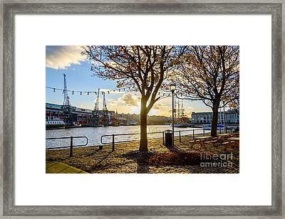 Bristol Harbour Framed Print by Colin Rayner