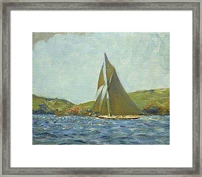 Framed Print featuring the painting Britannia by Henry Scott Tuke