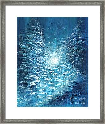 Framed Print featuring the painting Brite Nite by Holly Carmichael