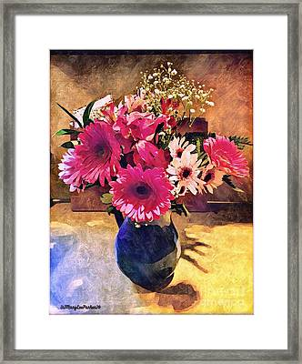 Brithday Wish Bouquet Framed Print