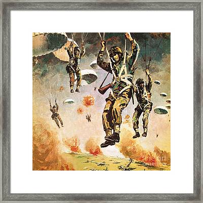 British 1st Airborne Division Dropping On Arnhem On 17th September, 1944 Framed Print