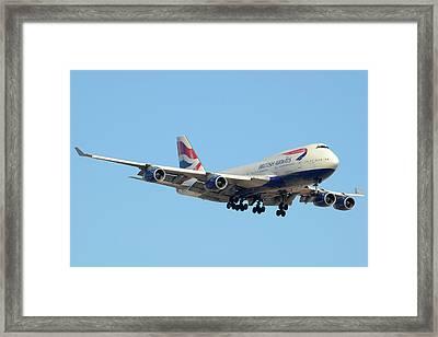 British Airways 747-436 G-civn Phoenix June 29 2011 Framed Print by Brian Lockett