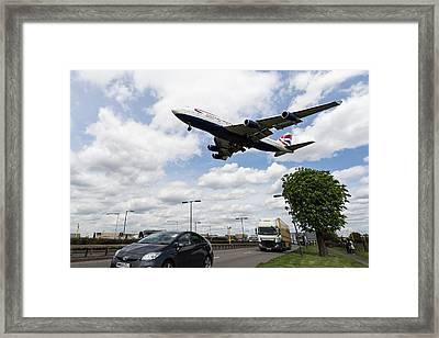British Airways Boeing 747 London Heathrow Framed Print