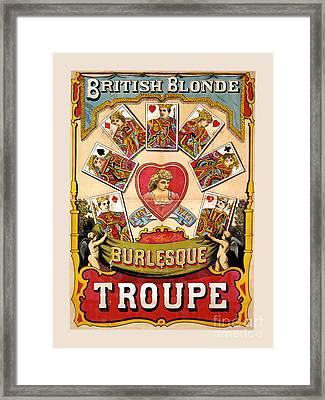British Blonde Burlesque Troupe Framed Print