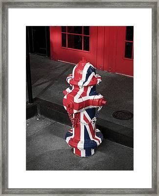 British Fire Hydrant Framed Print by Rae Tucker